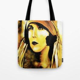 Lady in Fur. Tote Bag