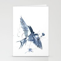 swallow Stationery Cards featuring Swallow by bethbile