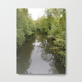 Odense River Print | Reflections in the Water | Nature Print |  Landscape Metal Print