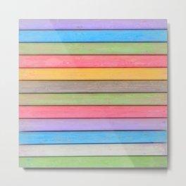 Rainbow Chalks Metal Print