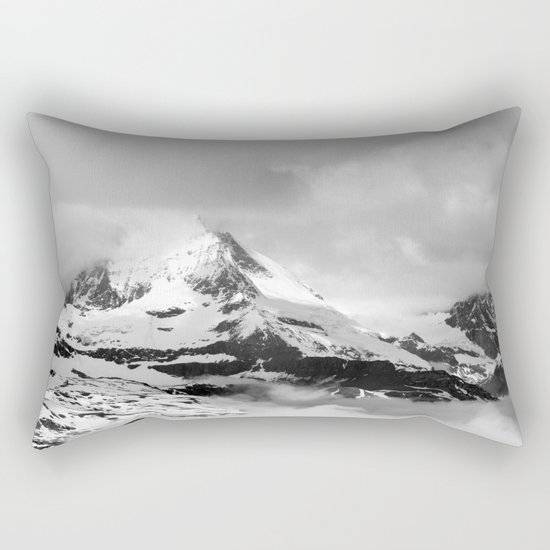 Mountain meets Clouds Rectangular Pillow