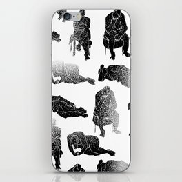 b&w fading figures iPhone Skin