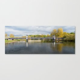 Ferry bridge panoramic Canvas Print