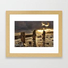 Old Groyne Sunset Framed Art Print