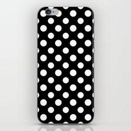 Black and White Polka Dot Pattern iPhone Skin