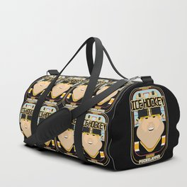 Ice Hockey Black and Yellow - Faceov Puckslapper - Sven version Duffle Bag