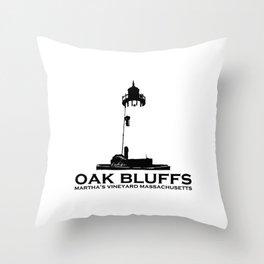 Oak Bluffs - Marthat's Vineyard. Throw Pillow