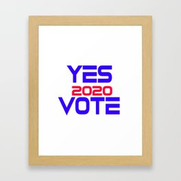 Yes Vote 2020 Framed Art Print