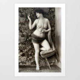 Vintage Nude Art Beauty No. 110 of 250, from the Vintage Nude Arts Collection. Art Print