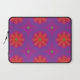 Magenta pattern with geometric flowers Laptop Sleeve