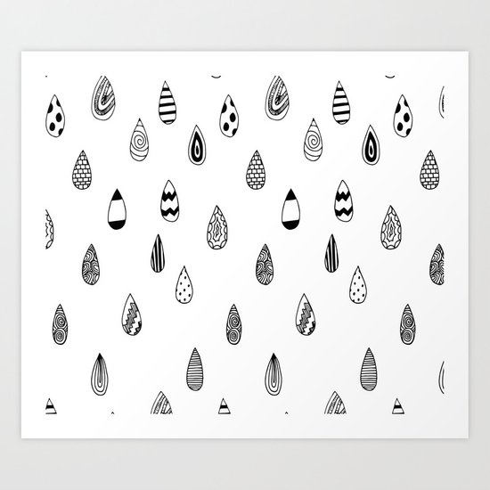 Raindrops of fun Art Print
