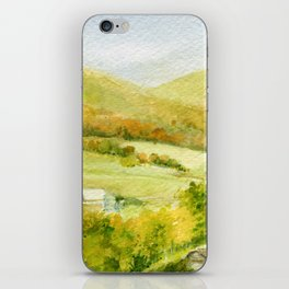 Autumn Fall on a Vermont Town iPhone Skin