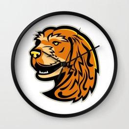 English Cocker Spaniel Mascot Wall Clock