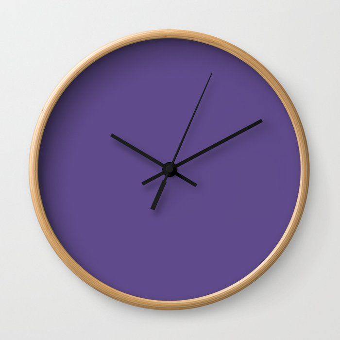 PANTONE 18-3838 Ultra Violet Wall Clock