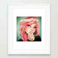 cyarin Framed Art Prints featuring Pink and Flowers by Cyarin