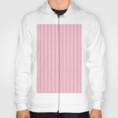 Girly Pink Knitting Wool Hipster Stripes Pattern Hoody