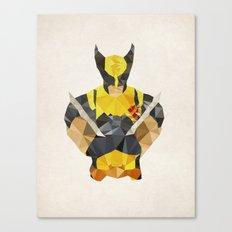 Polygon Heroes - Wolverine Canvas Print