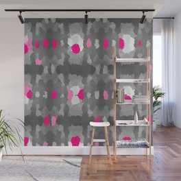 Shades of Gray, pink and white Wall Mural