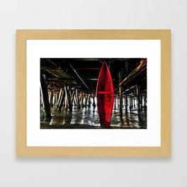 Rescue Canoe Framed Art Print