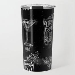 Cocktail menu graphic chalk Travel Mug
