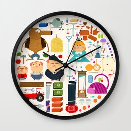 Alice in wonderland + Three Little Pigs aka ALIPIGS Wall Clock