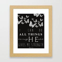 I Can Do All Things Framed Art Print