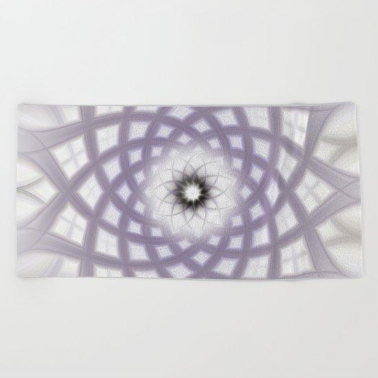 Lilac Twirl Beach Towel