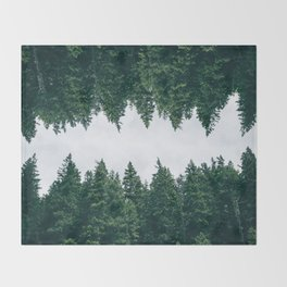 Forest Reflections X Throw Blanket