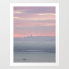 Dawn over Cape Town Art Print