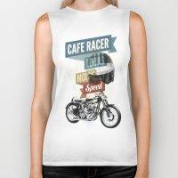 cafe Biker Tanks featuring cafe racer by Liviu Antonescu