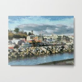 Quay- A view from the dock Metal Print