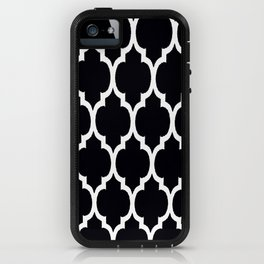 Moroccan Black and White Lattice Moroccan Pattern iPhone Case