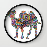 camel Wall Clocks featuring Camel  by Shanaabird