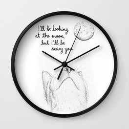 I'll Be Seeing You Wall Clock