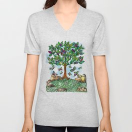 Flutterby Tree Unisex V-Neck