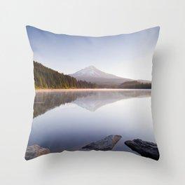 A Trillium Morning Throw Pillow