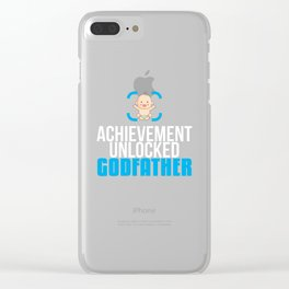 New Godfather Gift Achievement Unlocked Godfather Present for First Time Godfather Clear iPhone Case