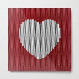 Wool Heart Metal Print