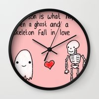 medical Wall Clocks featuring Medical Fact by Eat Yr Ghost