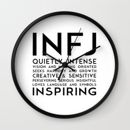 INFJ Wall Clock