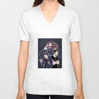chevron V-neck T-shirts featuring Chevron by callahaa