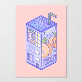 Peach Motel Canvas Print