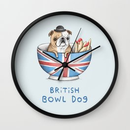 British Bowl Dog Wall Clock