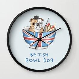 British Bowl Dog Wall Clock