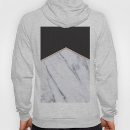 Gilded ebony and soft white marble Hoody