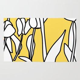 Yellow Tulips Rug