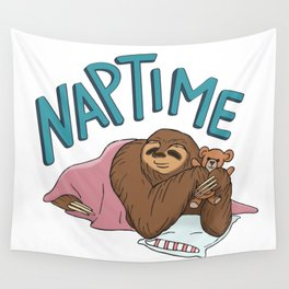Nap Time Sloth Wall Tapestry