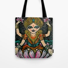 YOGA           Sacred Water Lilly Tote Bag