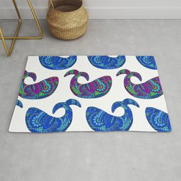 Colorful Whales Rug