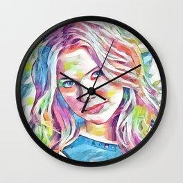 Ashley Benson (Creative Illustration Art) Wall Clock